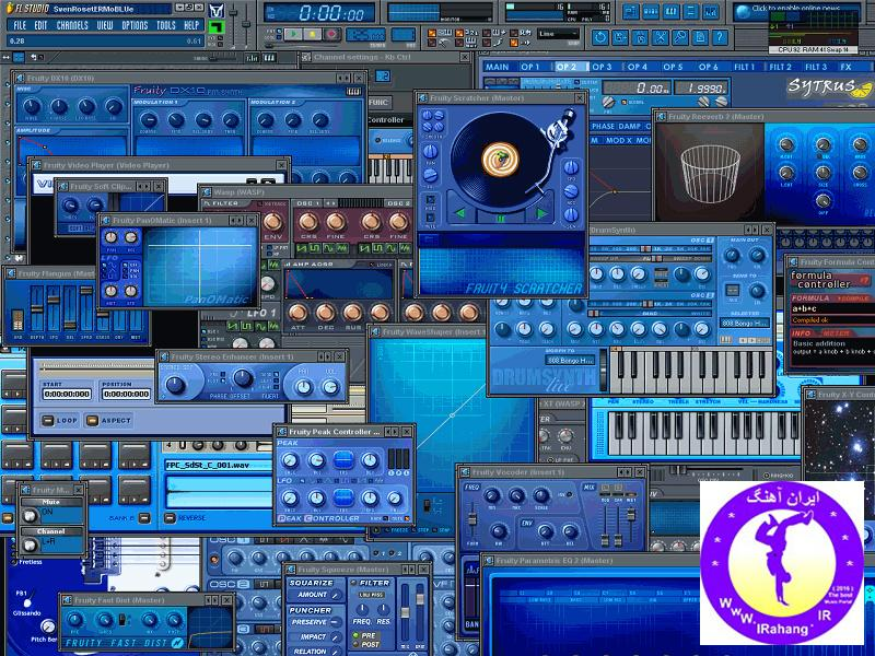 flstudio7_skin_blueclock